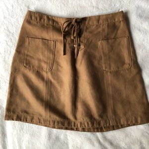 Hollister Faux Suede Skirt